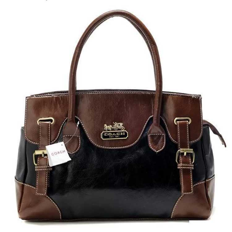 Coach Coffee Black Totes