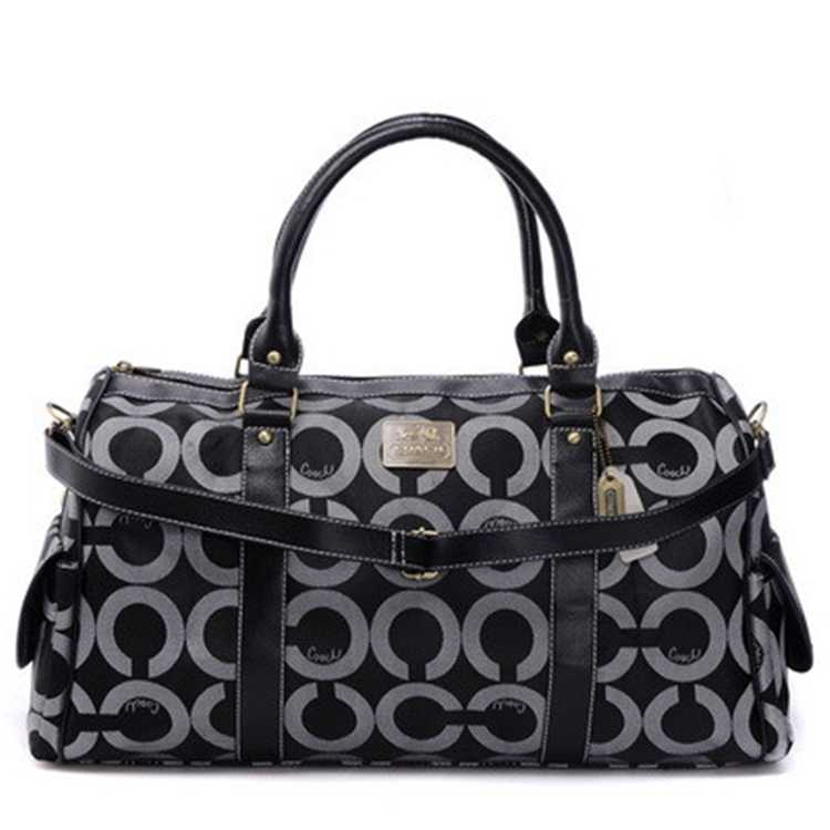 Coach Black White Luggage