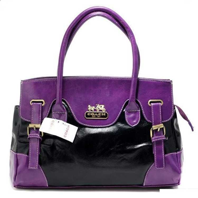 Coach Purple Black Totes