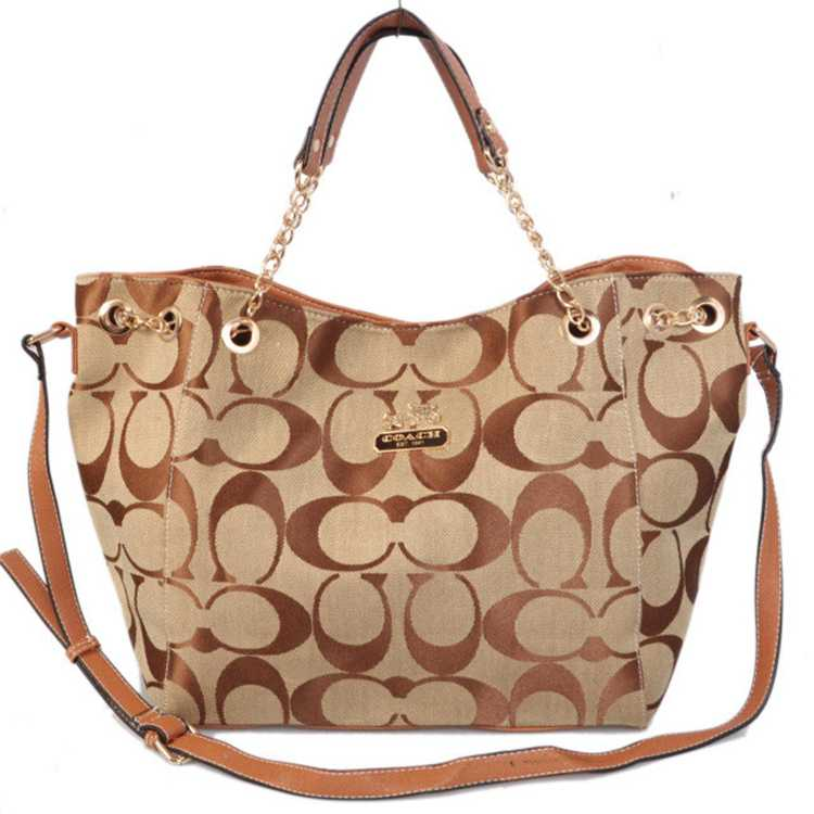 Coach Signature Apricot Bag