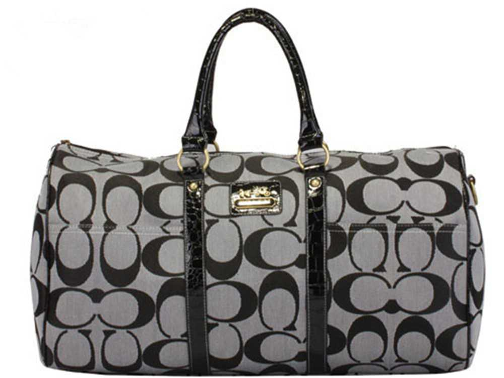 Coach Black Gray Luggage