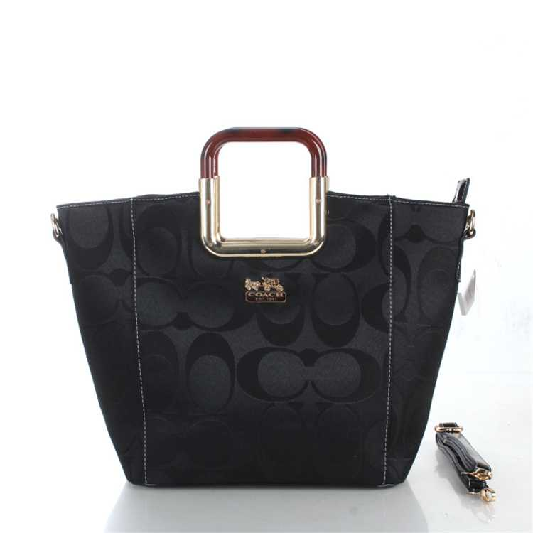 Signature Black Coach Bag