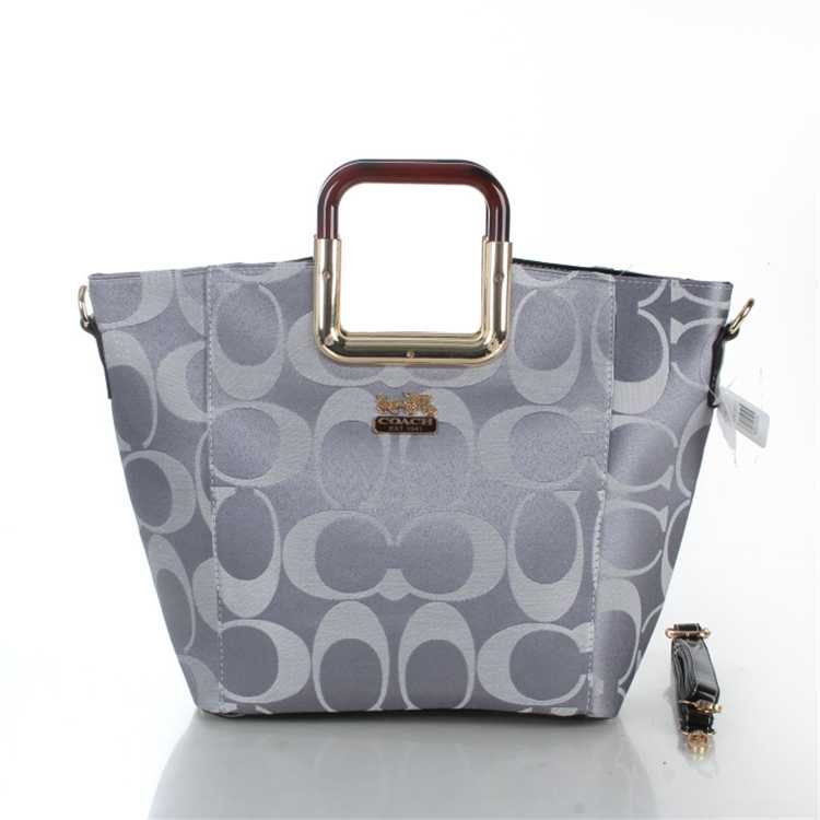 Coach Signature Grey Bag