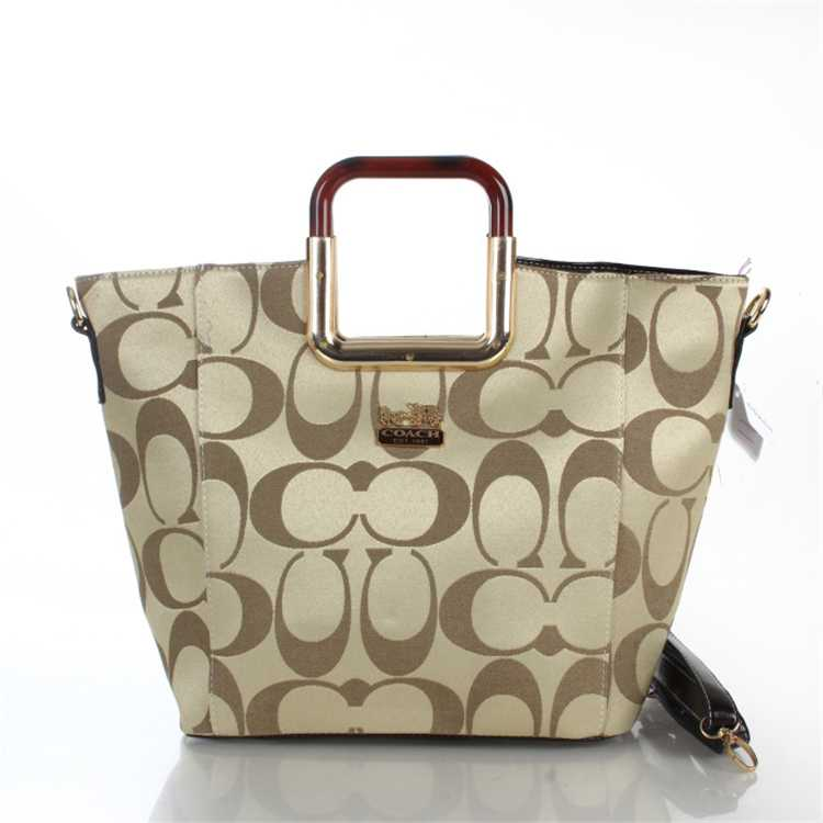 Signature Apricot Coach Bag