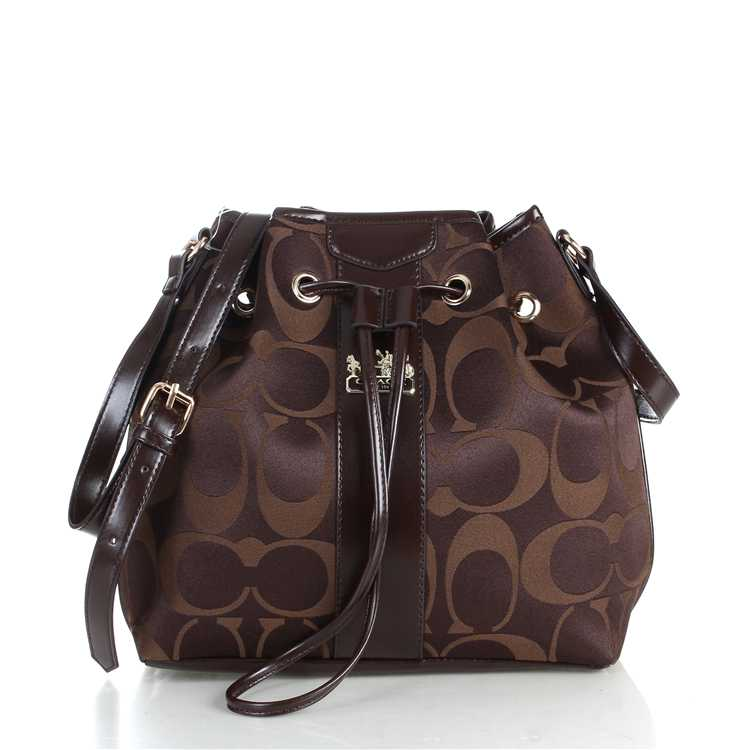 Signature Chocolate Coach Bag