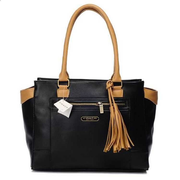 Coach Black Leather Totes