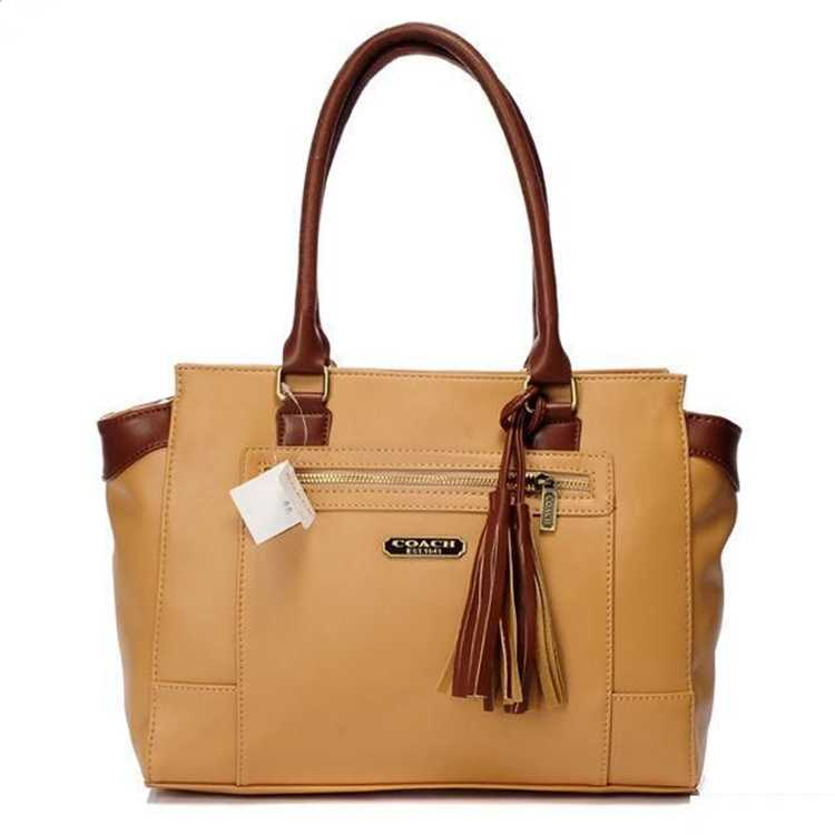 Coach Apricot Leather Totes