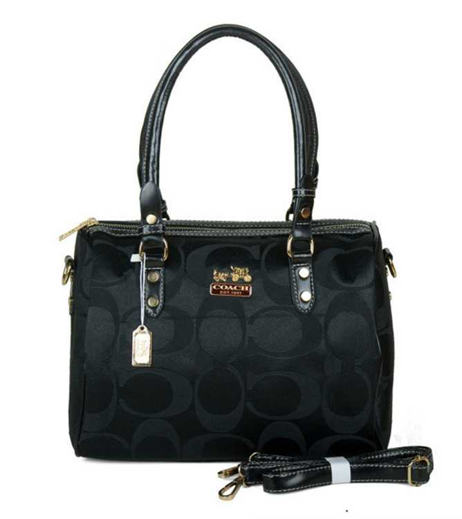 Coach Signature Black Totes