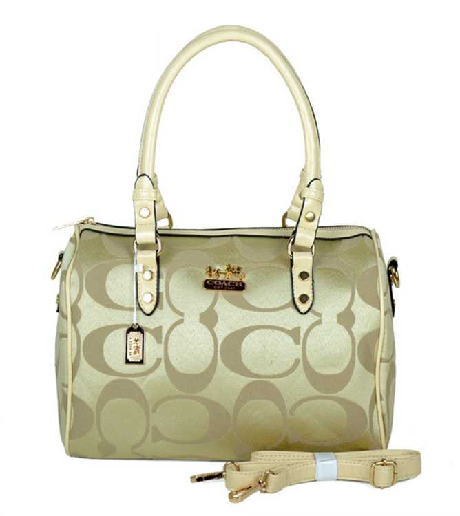Coach Beige Golden Totes