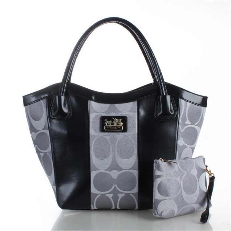 Coach Black Gray Bag