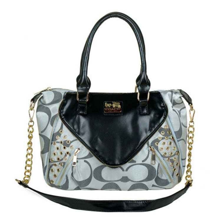 Coach Black Gray Totes