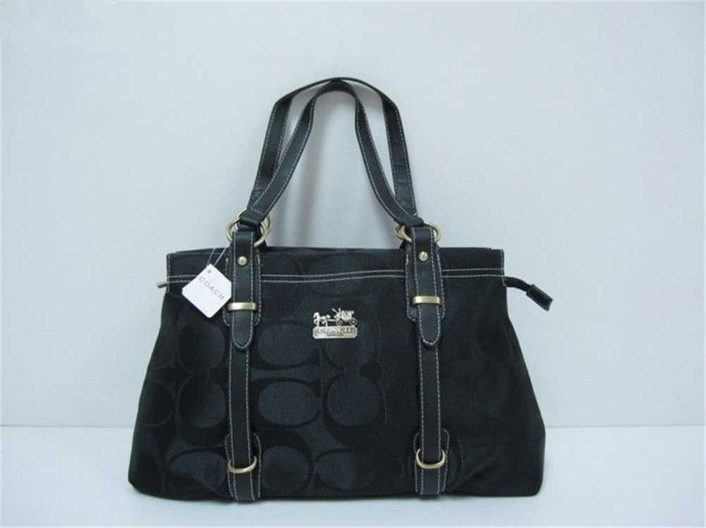 Signature Black Coach Totes