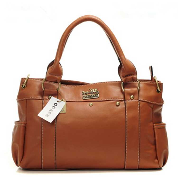 Coach Khaki Leather Bag