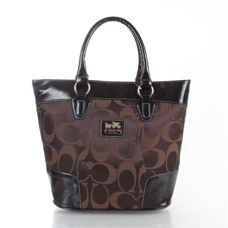Coach Chocolate Black Totes