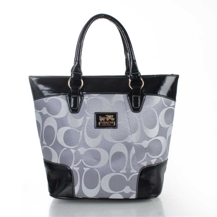 Coach Gray Black Totes