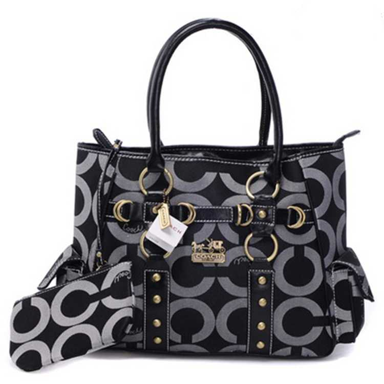 Coach Black Grey Bag