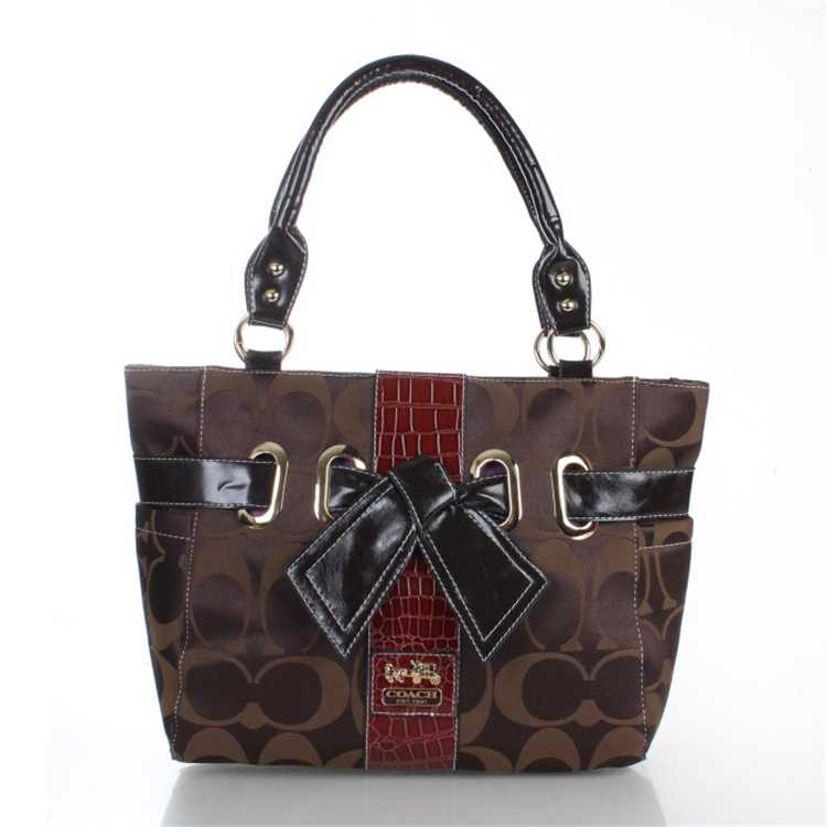 Signature Brown Coach Totes