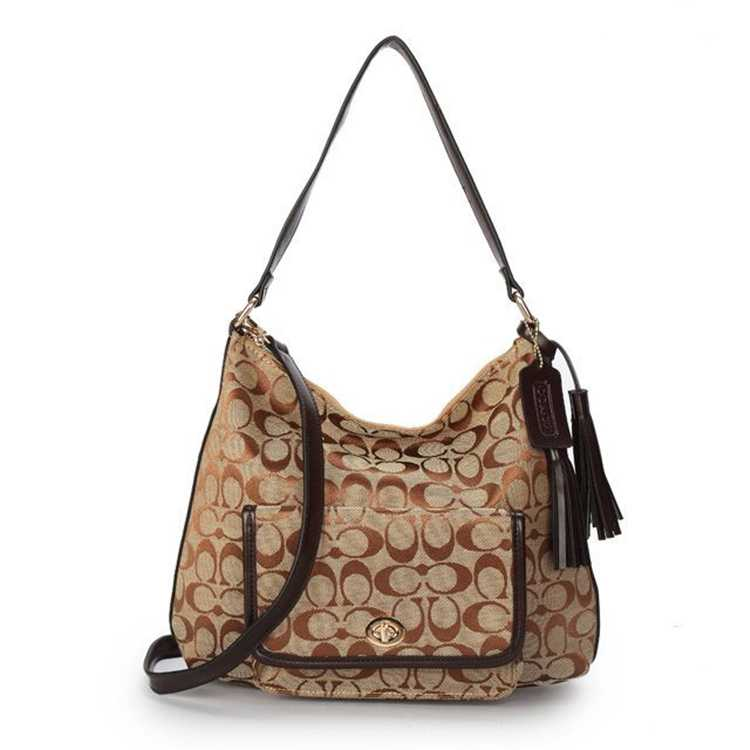 Coach Signature Brown Hobo Bag