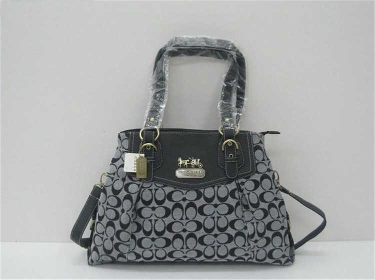 Coach Bag Black Gray