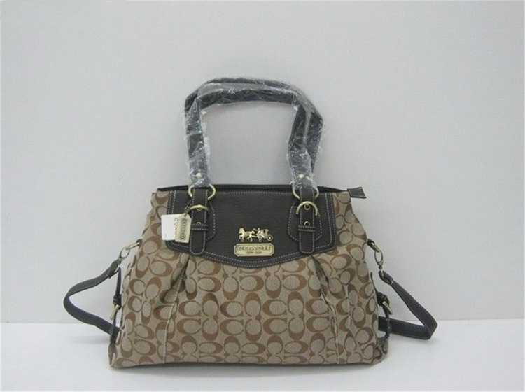 Coach Apricot Brown Bag