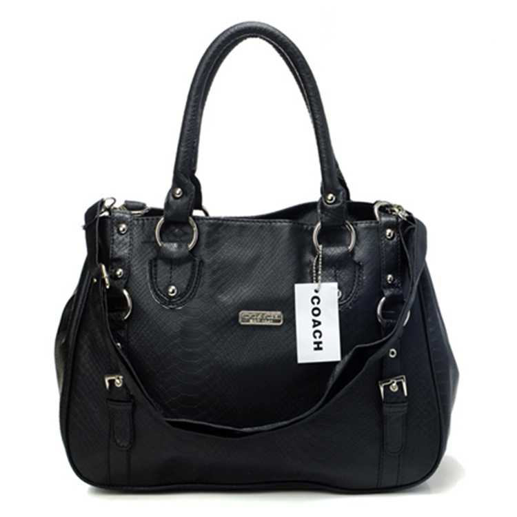 Black Coach Tote Bag