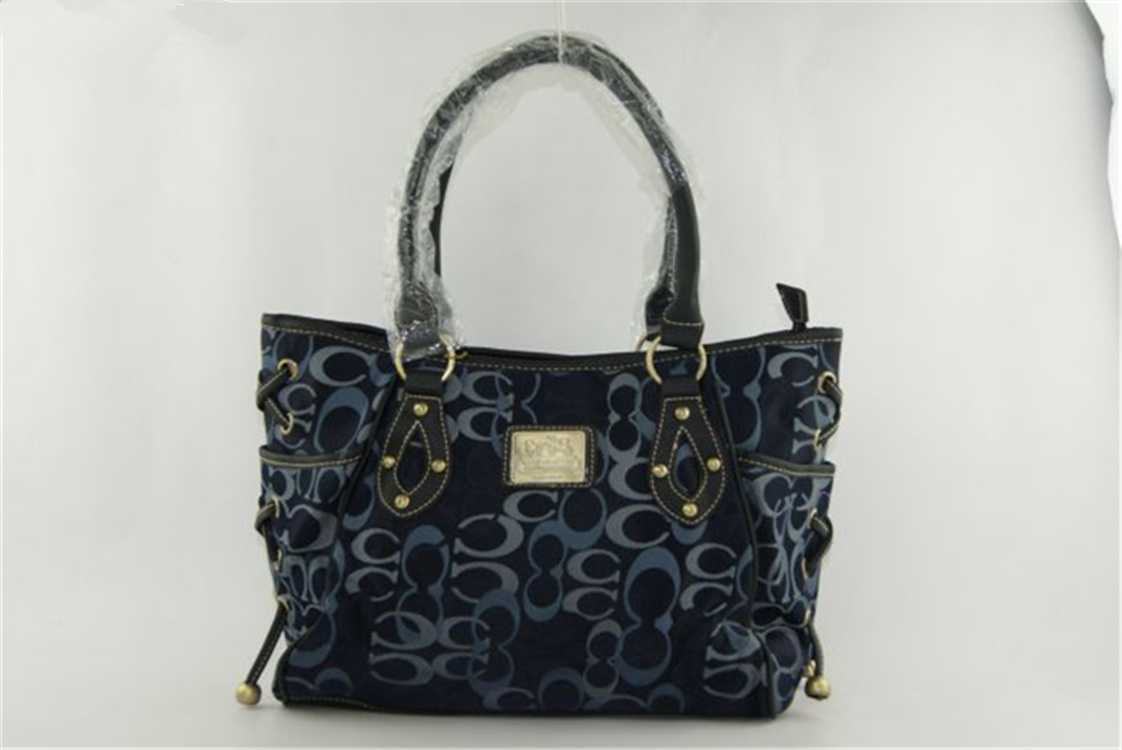 Coach Signature Navy Bag