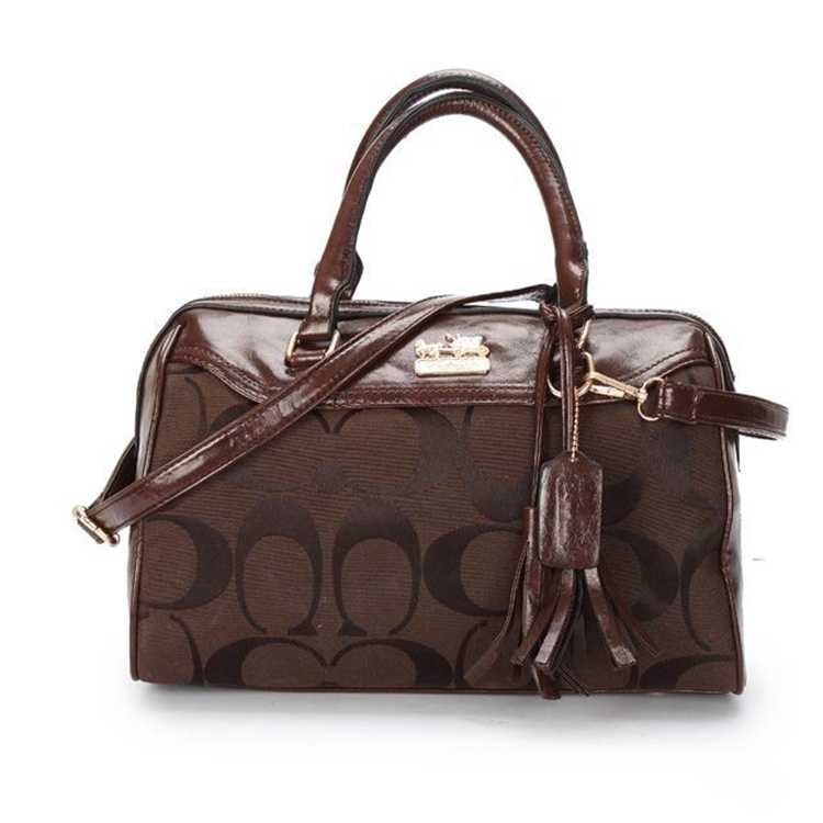 Coach Signature Chocolate Handbag
