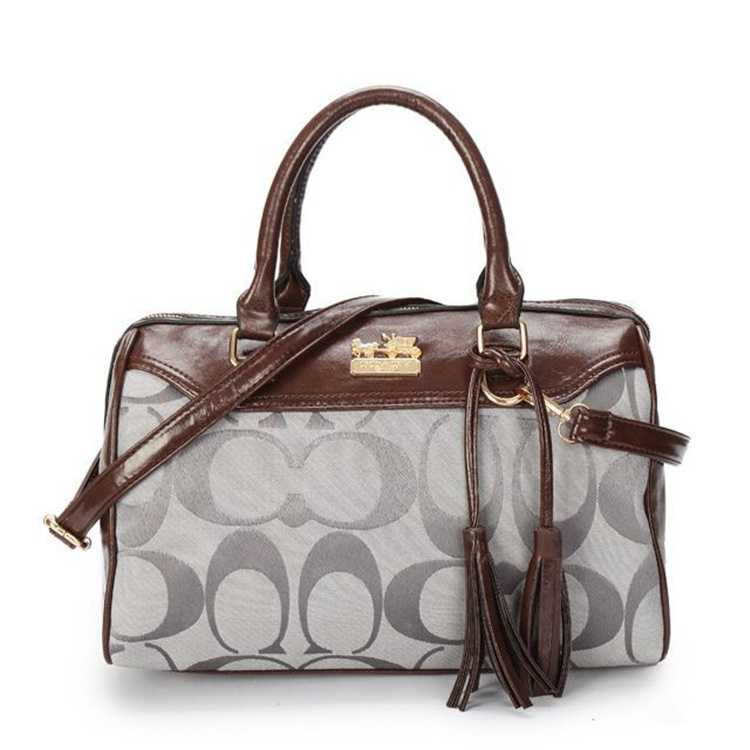 Coach Brown Gray Handbag