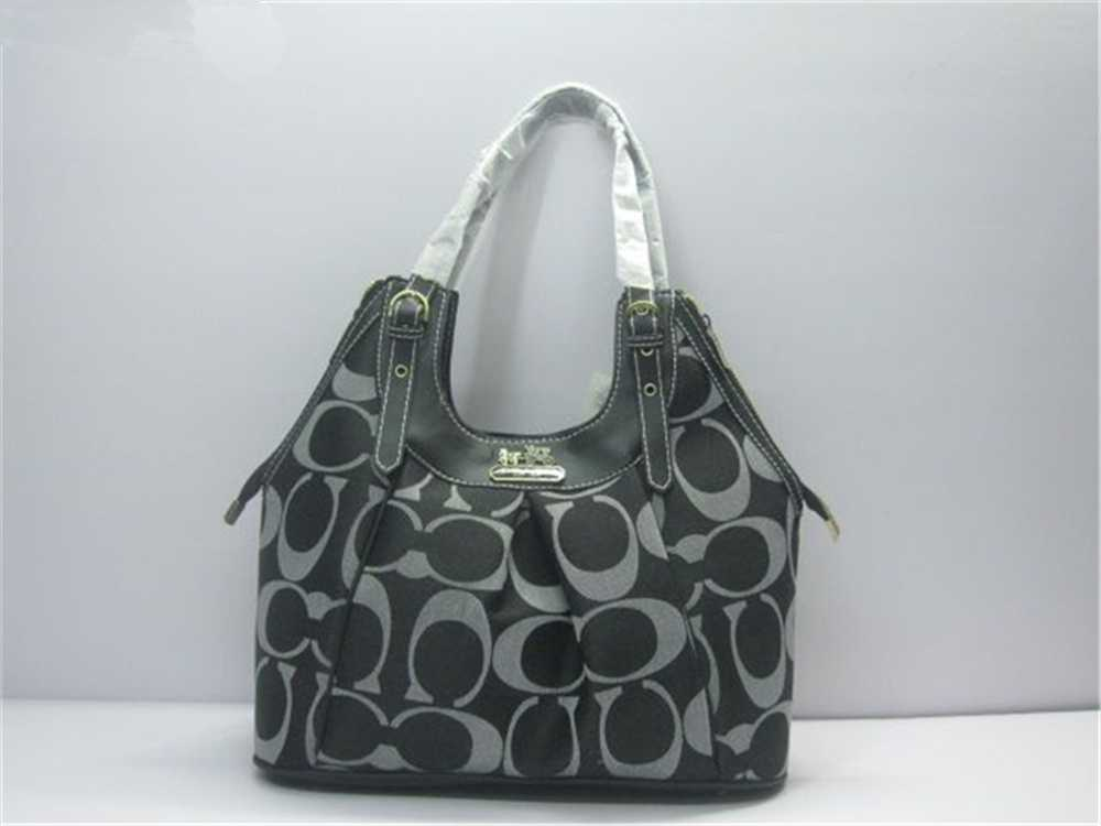 Coach Black Gray Handbag