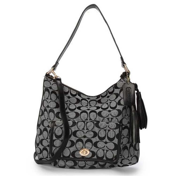 Coach Signature Grey Hobo Bag