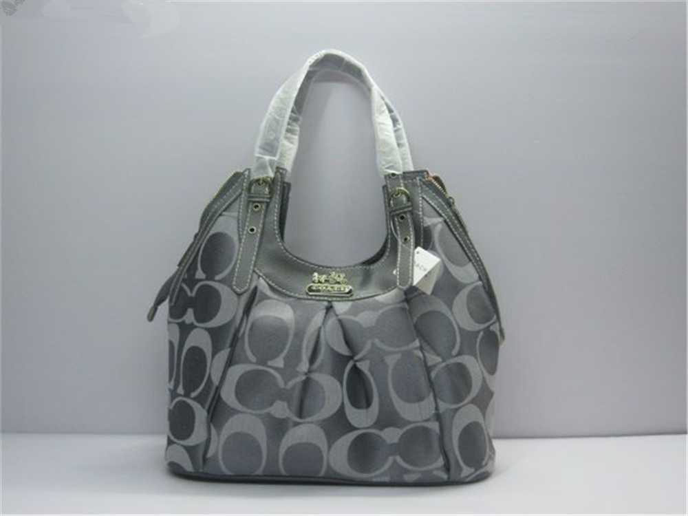 Coach Signature Gray Handbag