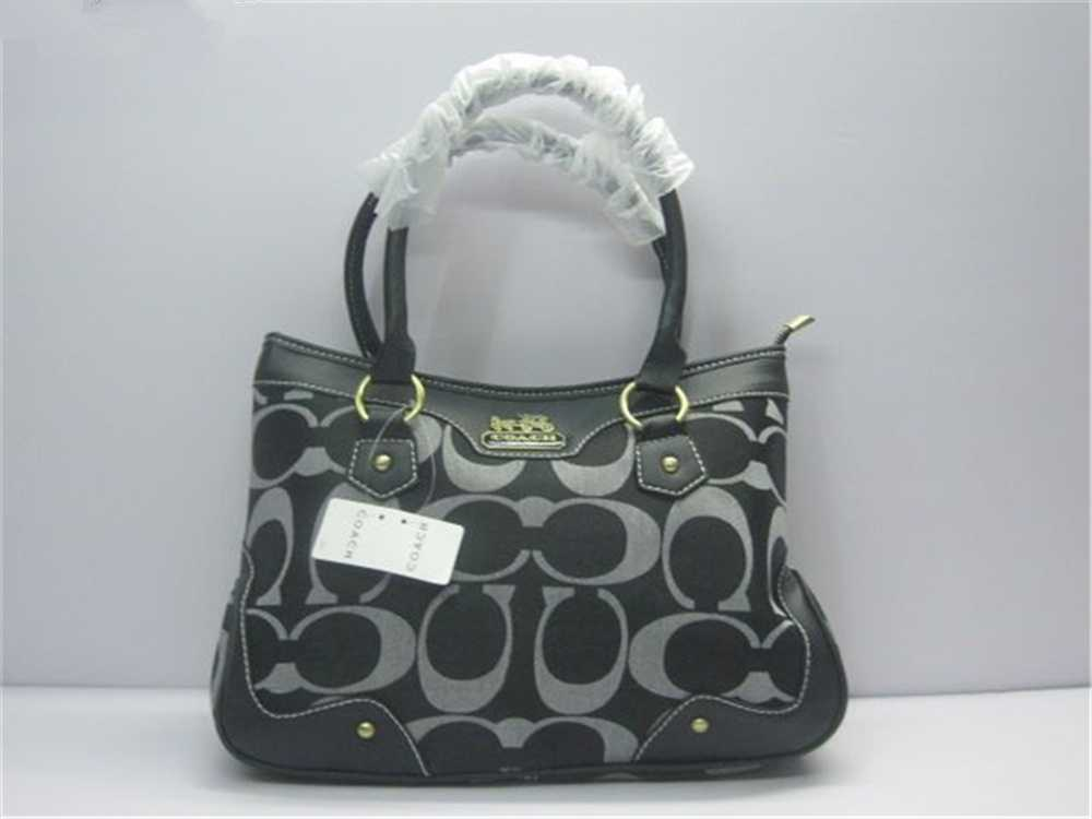 Coach Signature Grey Handbag