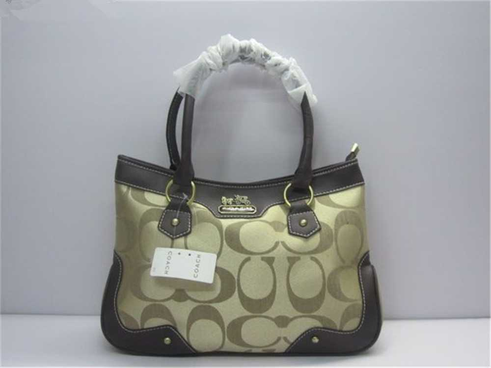 Coach Brown Golden Handbag
