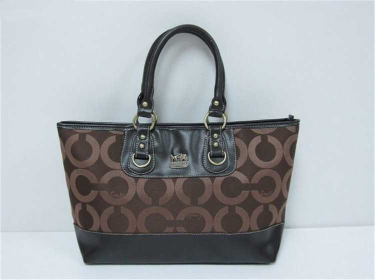 Coach Circle Brown Handbag