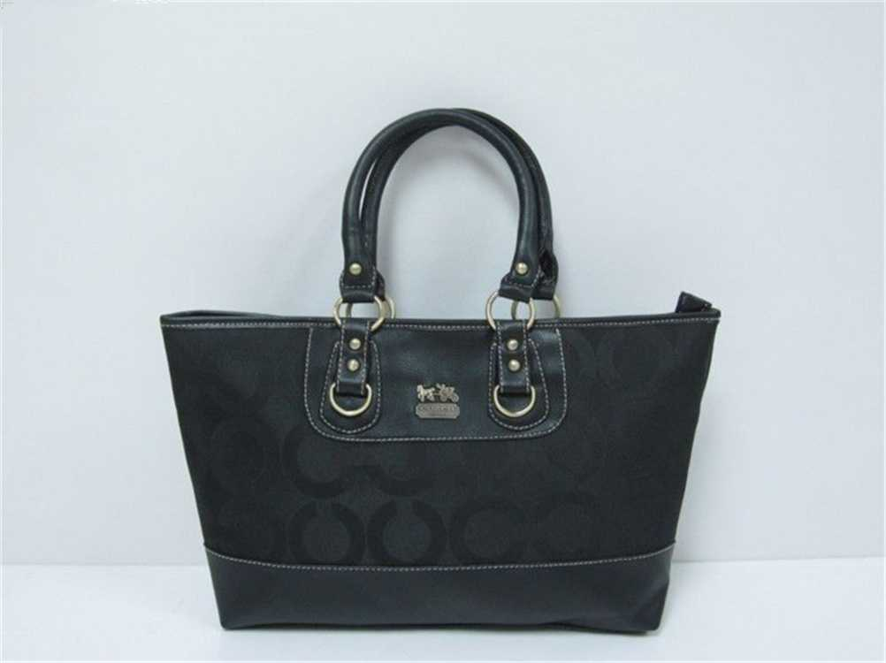 Coach Circle Black Handbag