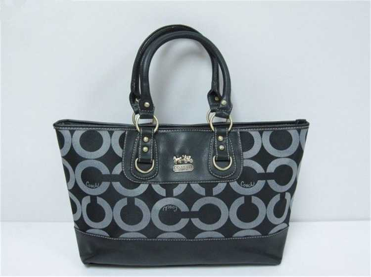Coach Gray Black Handbag