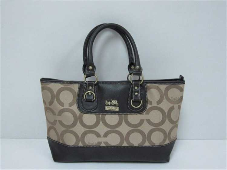 Coach Apricot Brown Handbag