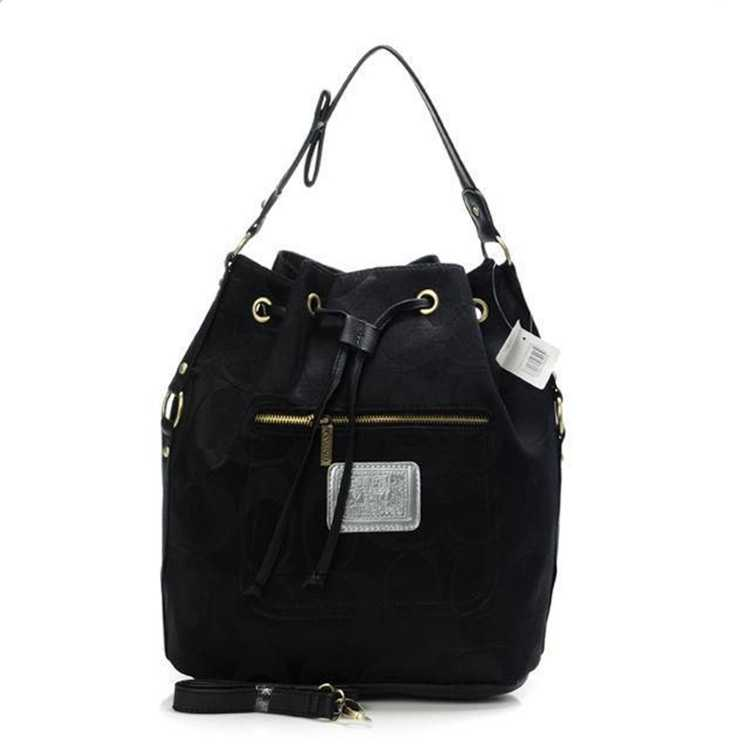 Signature Black Coach Handbag
