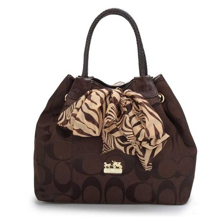 Coach Chocolate Tote Bag