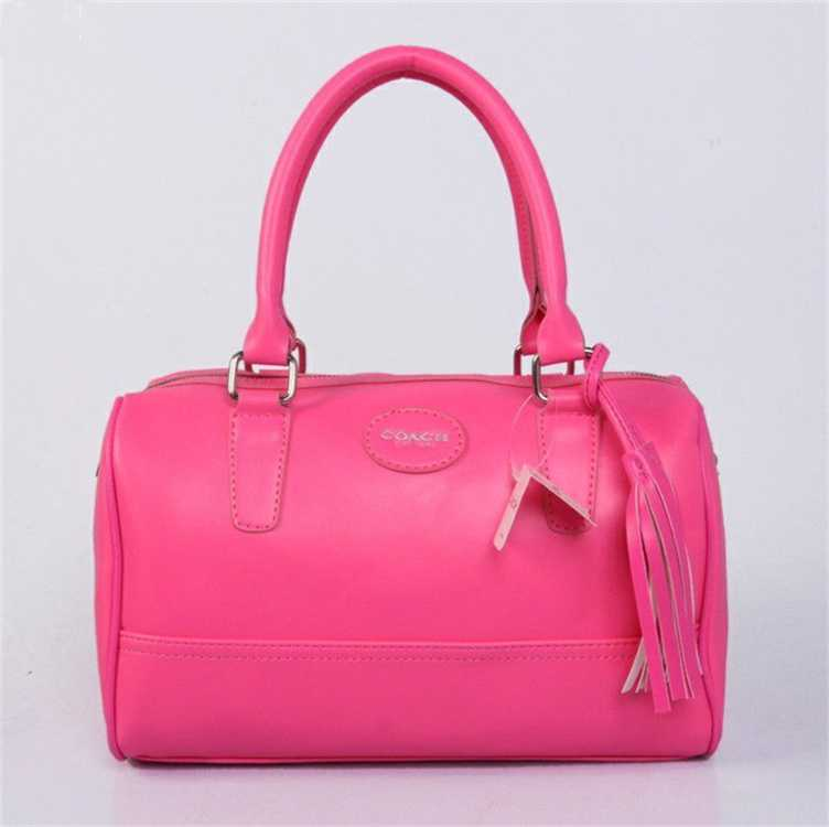 Pink Leather Coach Handbag