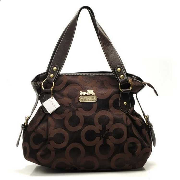 Circle Chocolate Coach Handbag
