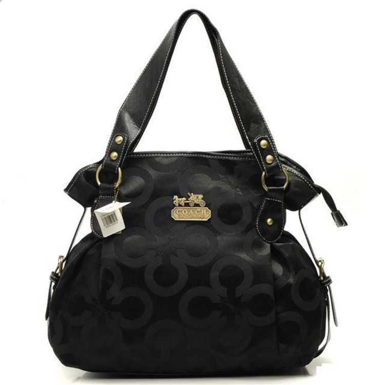 Circle Black Coach Handbag
