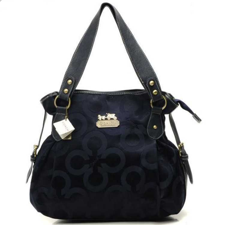 Circle Navy Coach Handbag