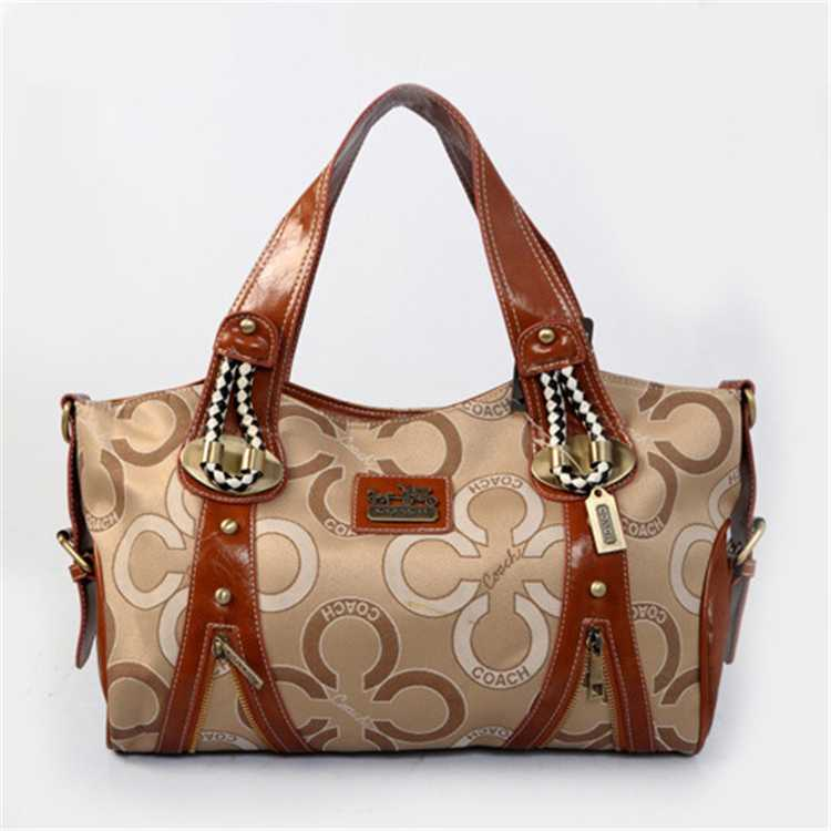 Brown Golden Coach Handbag