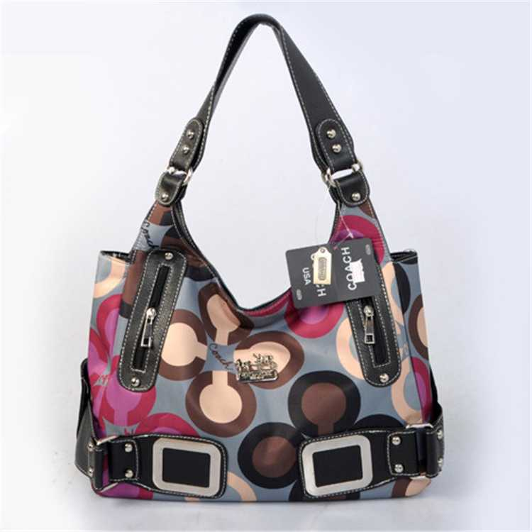 Coach Handbag Brown Black