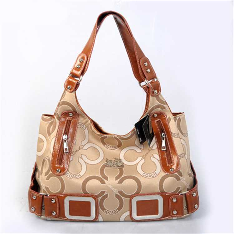 Coffee Apricot Coach Handbag