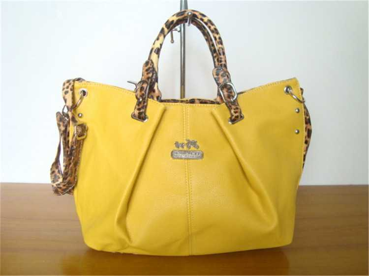 Coach Yellow Handbag