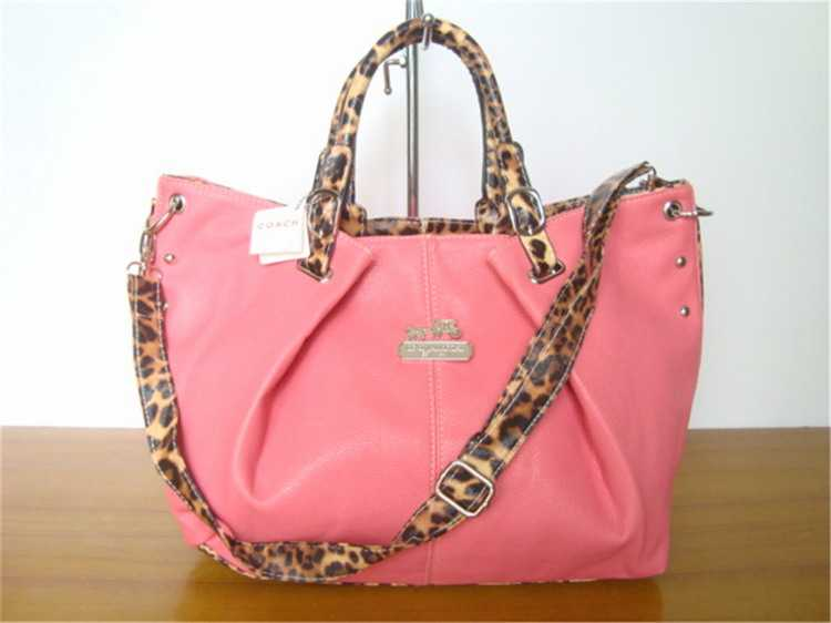 Coach Handbag Pink Leather