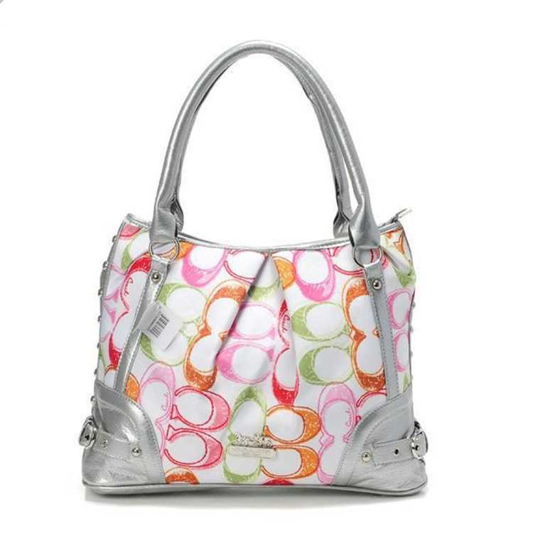 Sliver White Tote Bag Coach