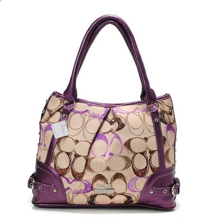 Purple Apricot Tote Bag Coach